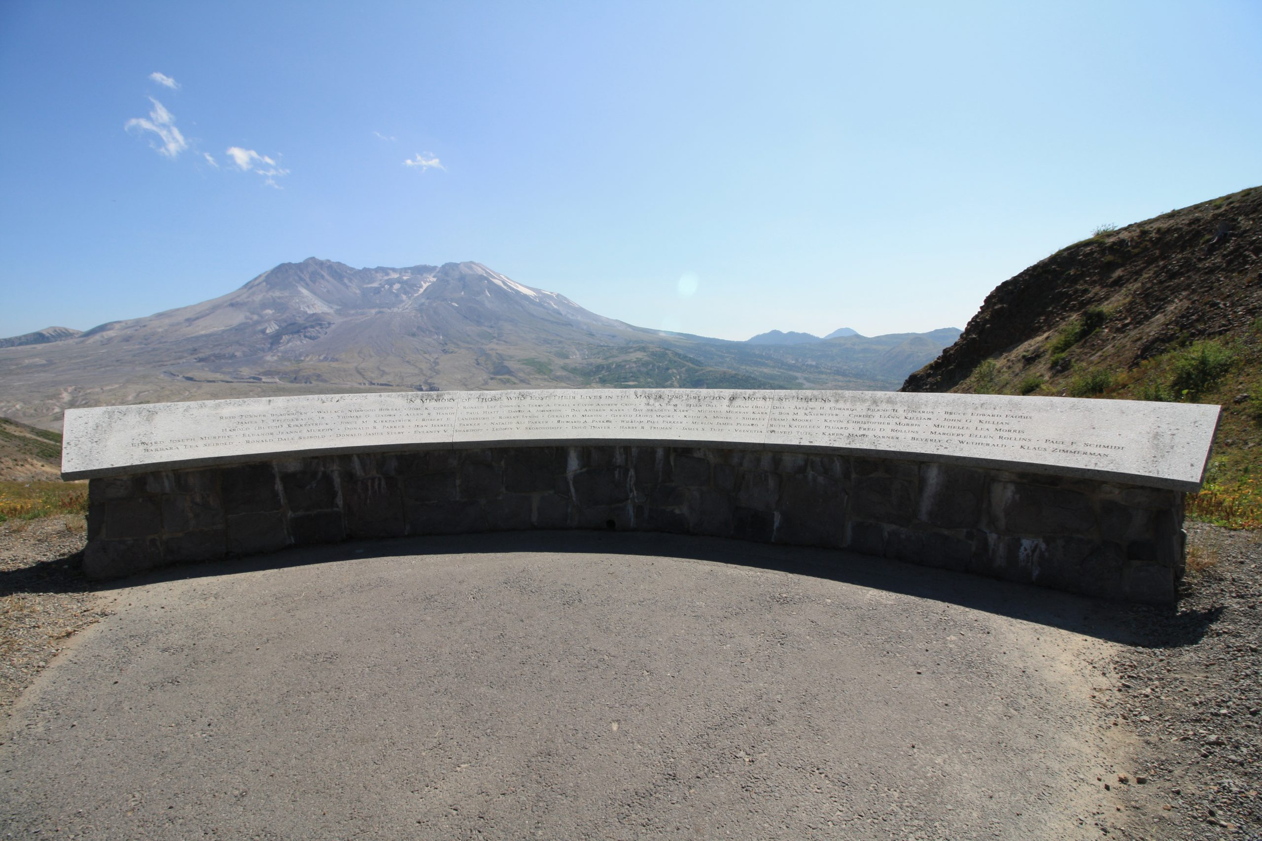 Memorial at Mount St. Helens